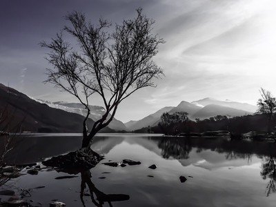 Llanberis with Snowdon in the background