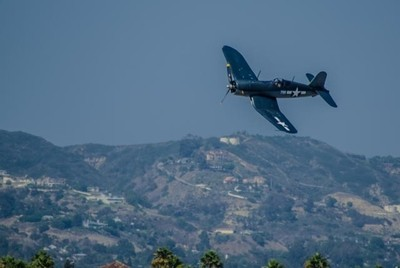 Corsair over Camarillo