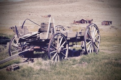 Antique Wagon at Bodie