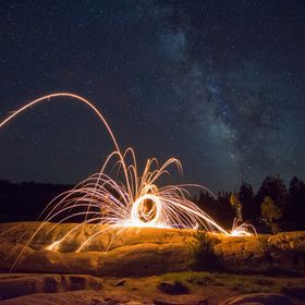 This was my first try at spinning the old wire wool.