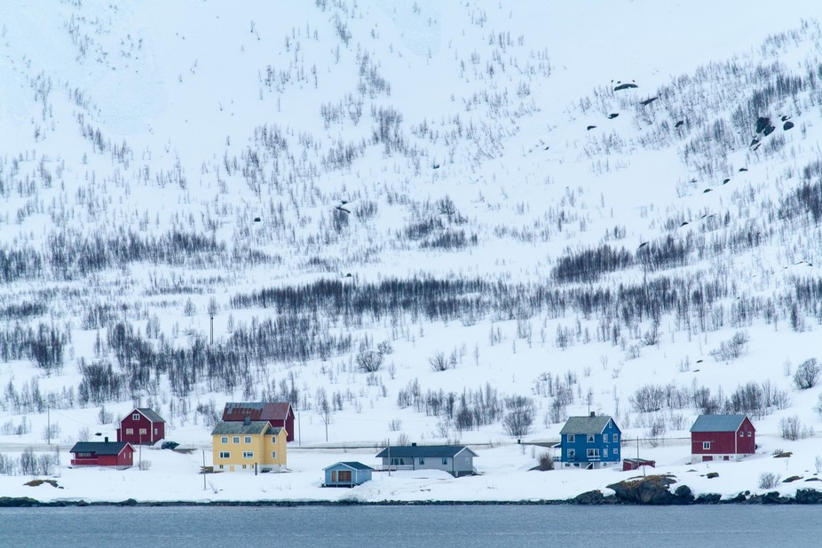 Norway Winter shot from the deck of Hurtigruten\'s MS Nordnorge