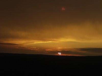 Sunset at 300 feet