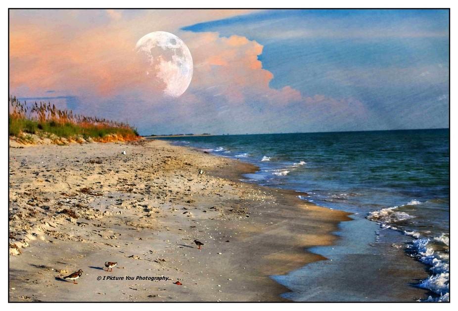 Sun setting, moon rising!