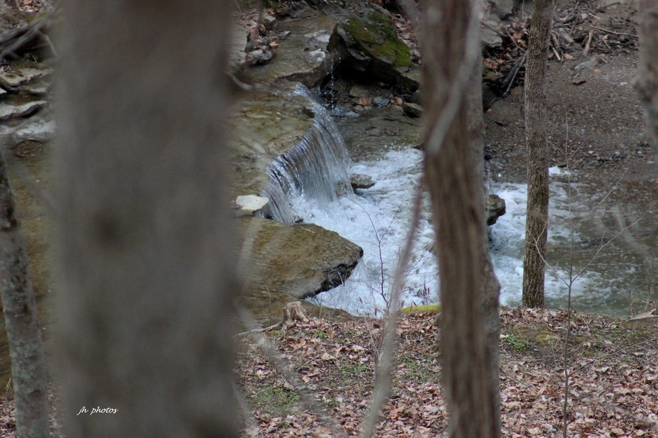 A small water fall along the creek