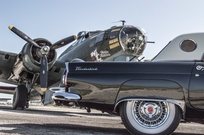 B-17G and and Old T-bird