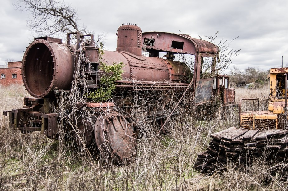 An old train that was spotted near and old railroad depot in South Alabama.