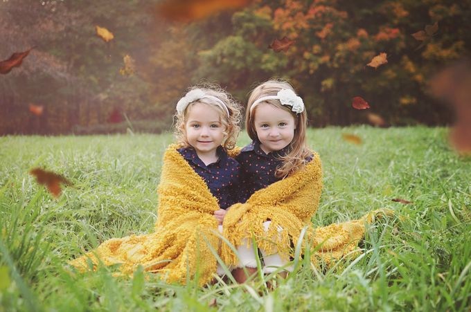 Sisters in the Leaves by laurenapetersen - Youngsters Photo Contest