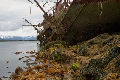 old wreck near Stykkishólmur Iceland