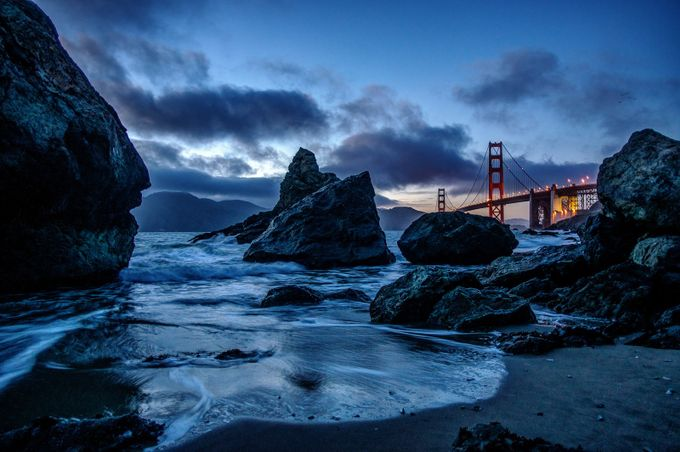 Blue Hour at Marshall Beach by rapowell71 - The Blue Hour Photo Contest