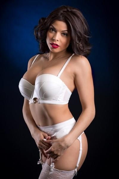 Jenny in white lingerie