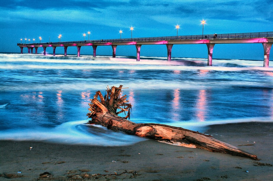 Dusk At New Brighton Pier - New Brighton, Christchurch, New Zealand