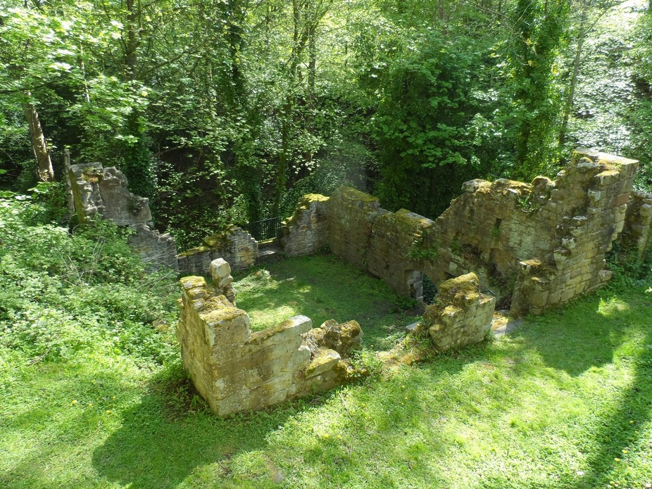Ruins of the Mill house at Prudhoe Castle Northumberland UK