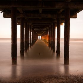 Long exposure taken under the pier at Southwold, Suffolk as the sun was coming down.