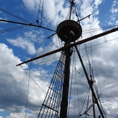 The mast of the Mayflower