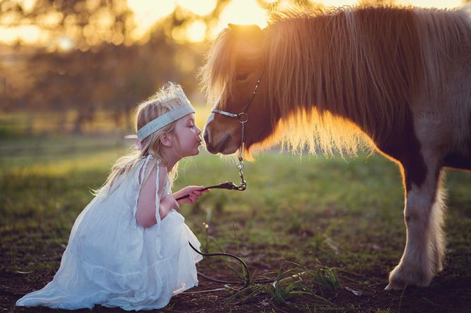 The kiss by lisanicole - Children and Animals Photo Contest