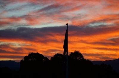 Oz flag @ sunset