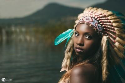 Black squaw Alexandra portrait