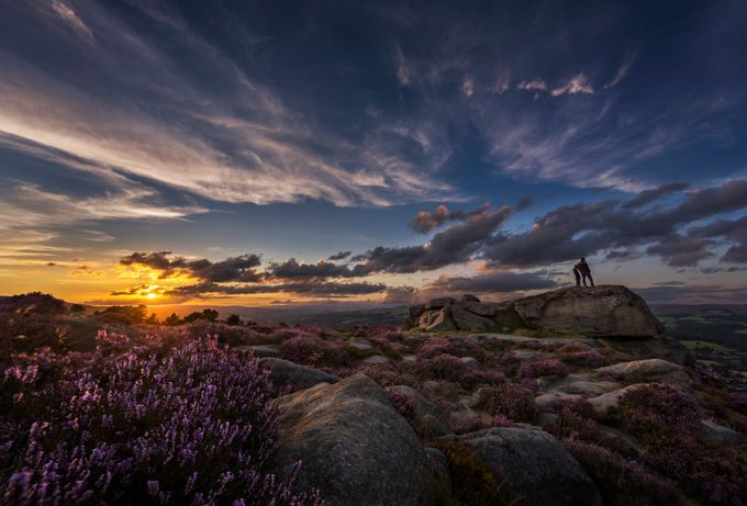 Sunset over Wharfedale viewed from Ilkley Moor, West Yorkshire, United Kingdom by gilesrrocholl - Standing At The Edge Photo Contest