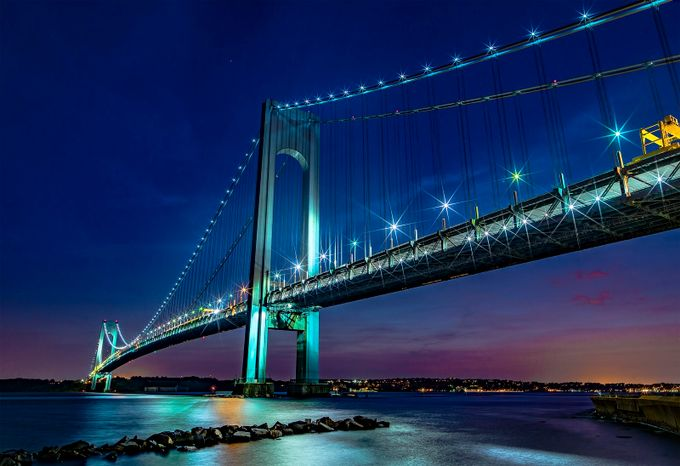 Colors of Verrazzano by jacksoncarvalho - Bridges In The Night Photo Contest