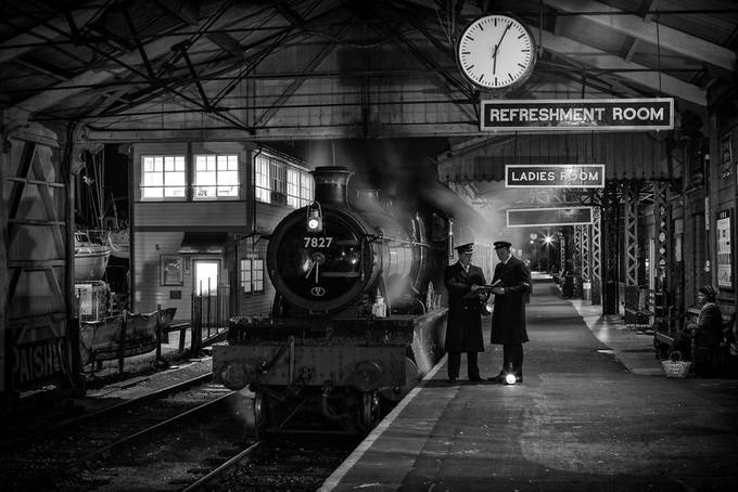 Night at the Station by StevenReidPhotography - City Life In Black And White Photo Contest