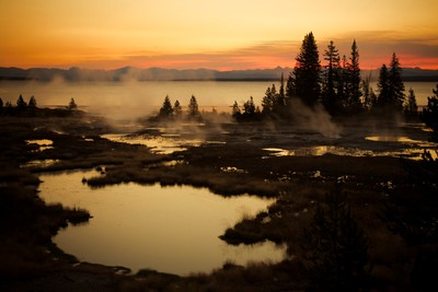 Lake Yellowstone sunrise