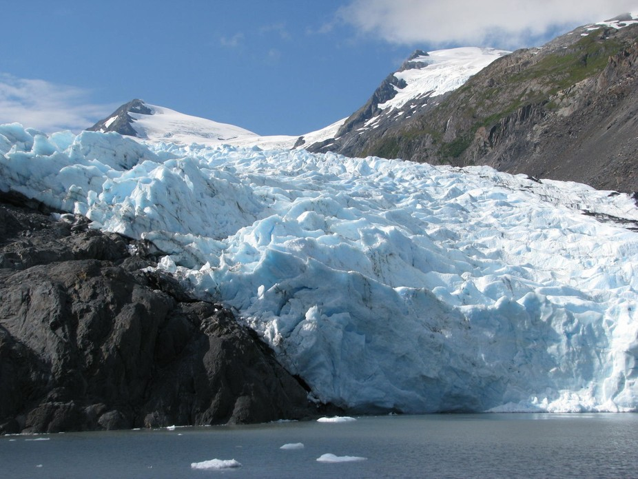 We boarded the M/V Ptarmagin and got a narrated tour of the lake and glacier.  It's abou...