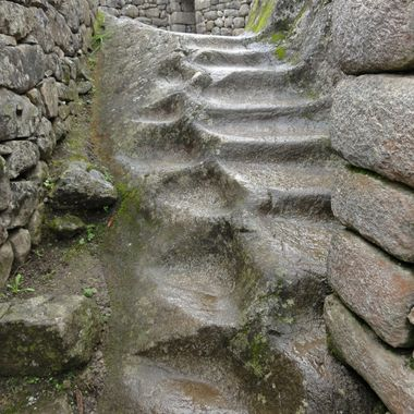 Ancient steps Machu Picchu