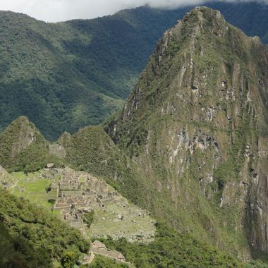 Machu Picchu from trail to sun gate