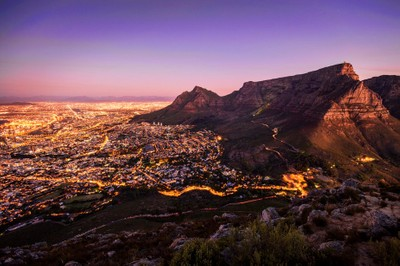 Table Mountain at twilight