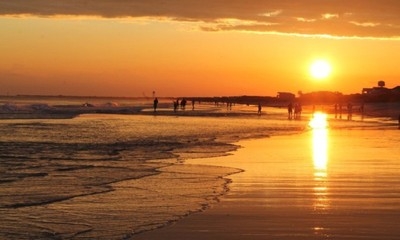 Glorious sunset at Oak Island, NC