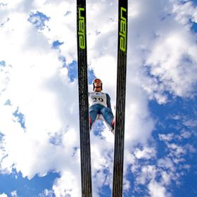 U.S. Ski Jumping at Utah Olympic Park. Tried to get a unique angle for a different perspective on Ski Jumping.