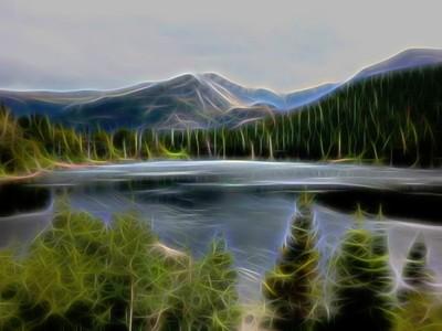 Artsy Mountain Lake