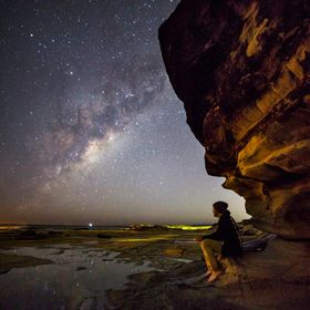 Hey!  A few months ago I went to Shelly Beach, Caloundra, Australia for an Astro-Photography shoot and I took this selfie.  I shared this shot a ...