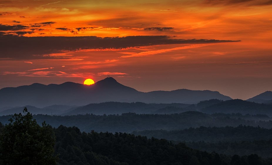 is dawning in Western North Carolina
