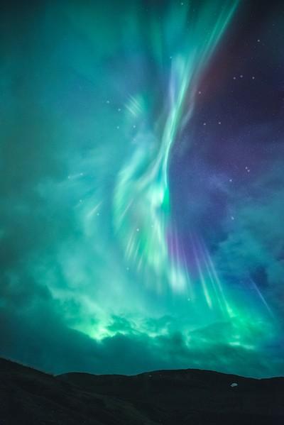 Clouds vs Auroras