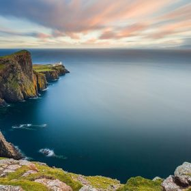 A marvelous windy sunset in the beautiful and famous Neist Point