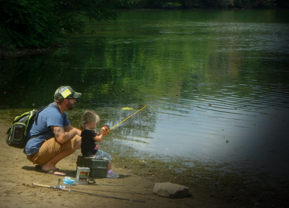 Fishing is not about fish. It's about the time spent together catching them!