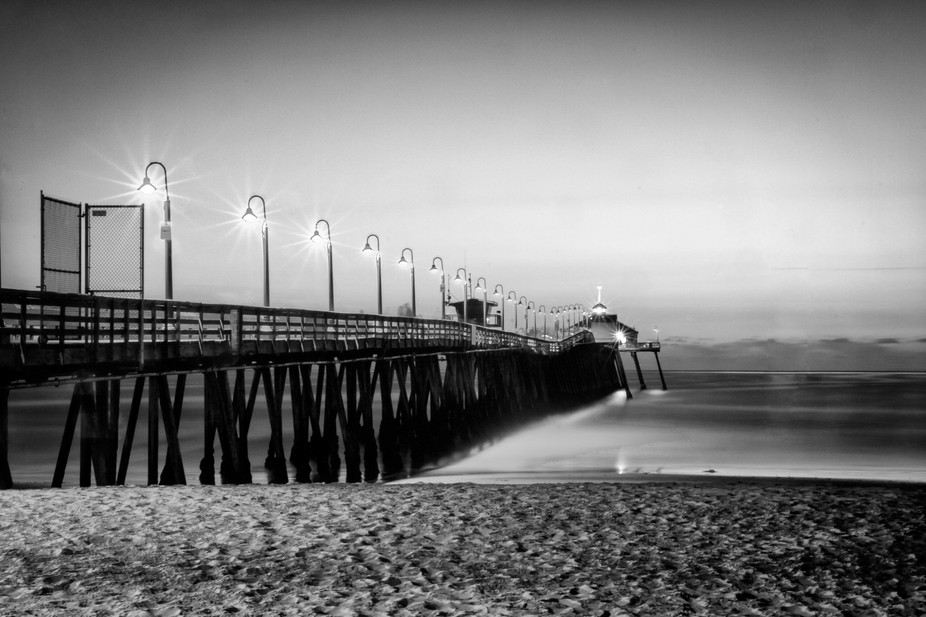 Fishing pier in Imperial Beach California. Twilight shot.