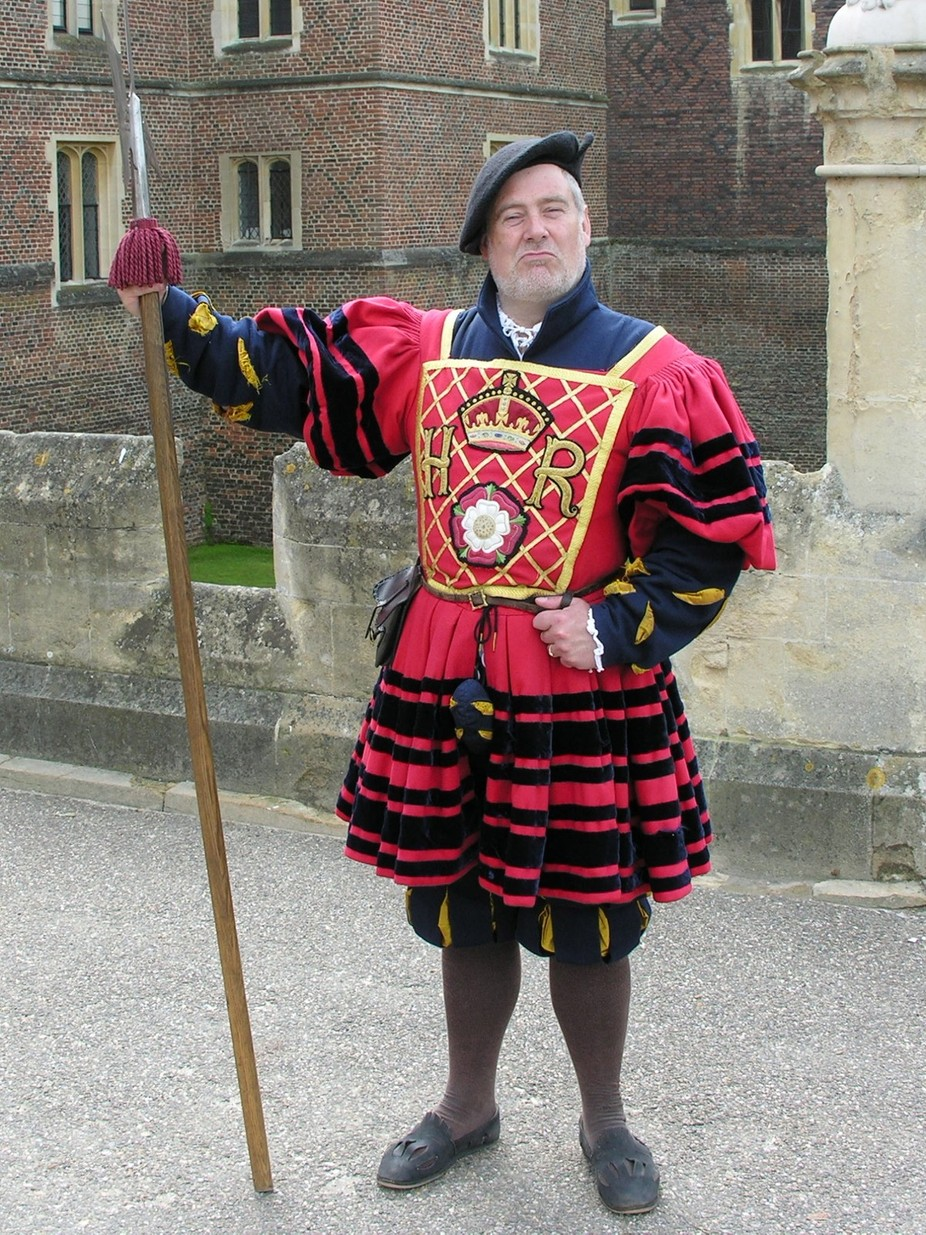 Performer at Hampton Court Palace outside of London