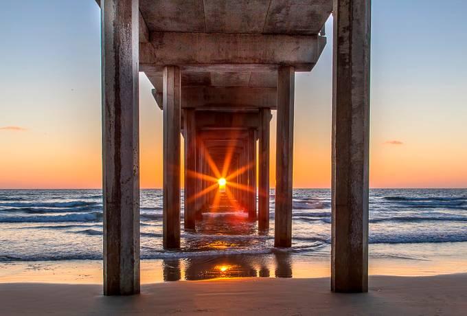 Scripps Pier Henge by mlauffen - The View Under The Pier Photo Contest