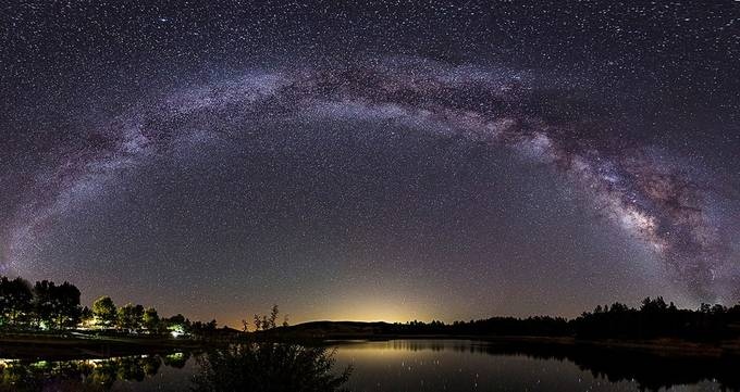 Milky Way Panorama over Lake Cuyamaca, California by mlauffen - Capture The Milky Way Photo Contest
