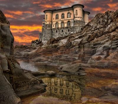 Reflection of Castel Boccale (Livorno, Italy)