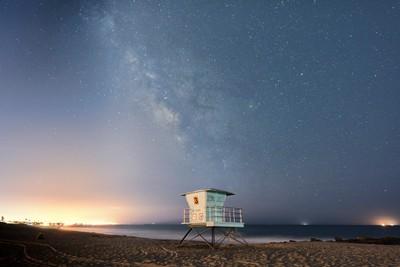 The Milky Way over Ventura, CA.