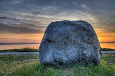 A stone in Ebeltoft, Denmark