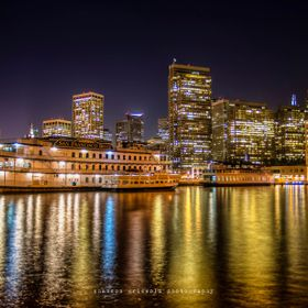 This is a photograph of the San Francisco city skyline from Pier 7 off of the Embarcadero. This is just a beautiful place at night…I highly rec...