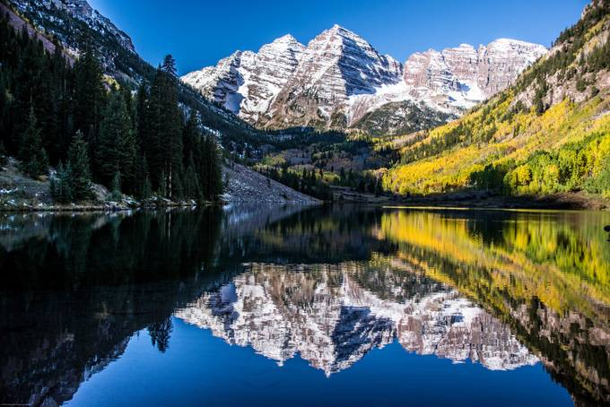 Maroon Bells by ninapritikinzale - Lakes And Reflections Photo Contest