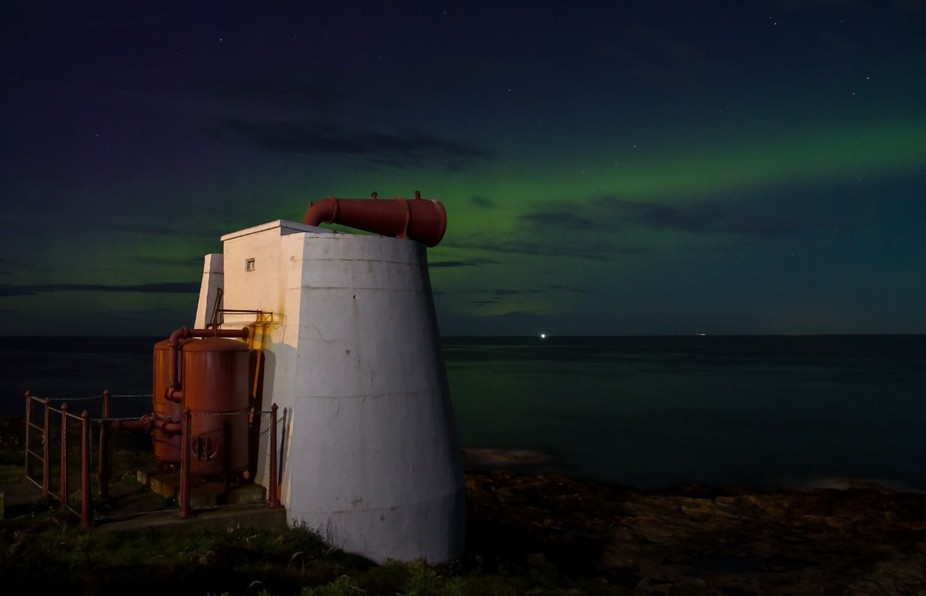 """This is the remnants of an Aurora Borealis display with the """"Broch Coo"""" Foghorn..."""