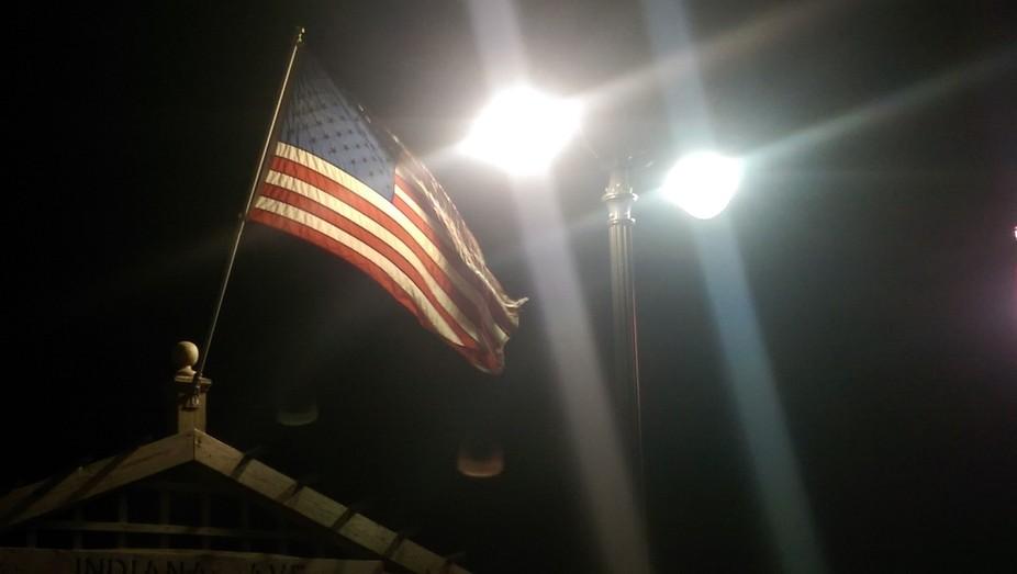 Old Glory fling over the Atlantic City Boardwalk Memorial Day Weekend