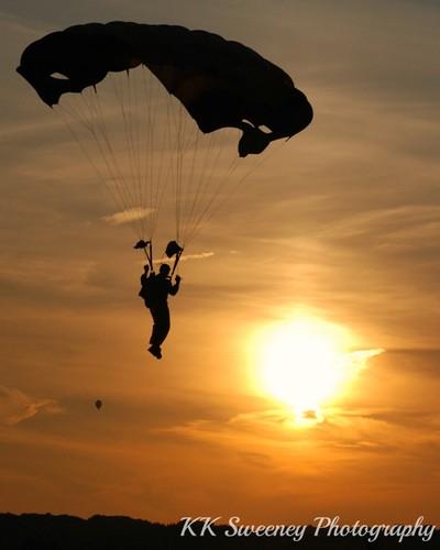 Sunset Parachuter