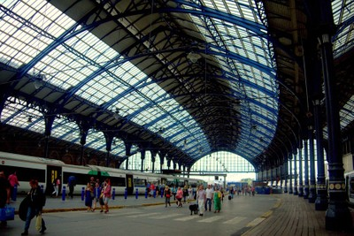 At The Train Station, Brighton, Sussex